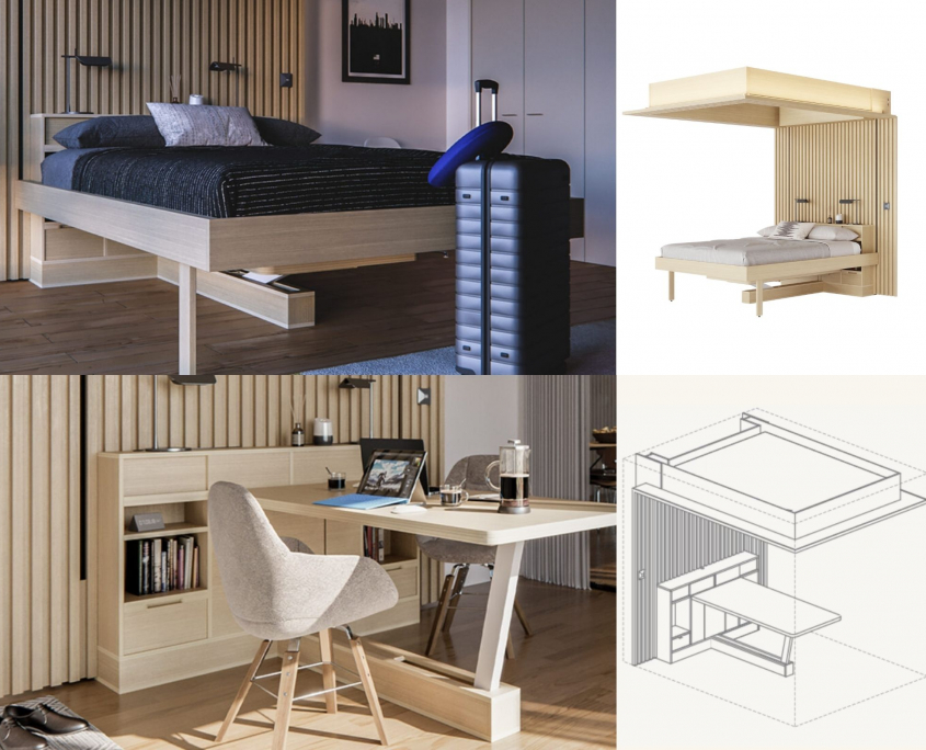Homeoffice Lösung Ori Living Cloud Bed Table Edition