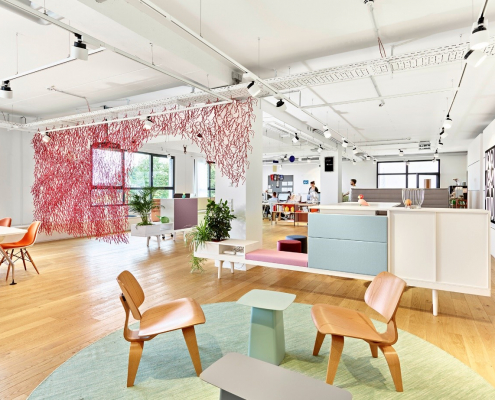 club office als hybrides Büro