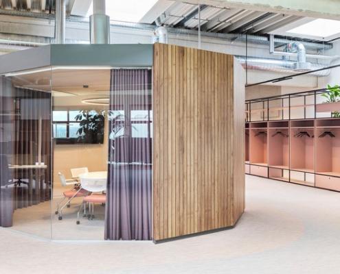 raum in raum lösung für hybride Büros